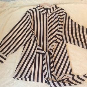Tommy Hilfiger striped blouse with tie waist